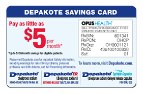 Depakote Savings Card